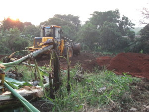 Ground clearing works