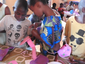 At the Namutamba children's rehabilitation centre it was lost sheep and purse making